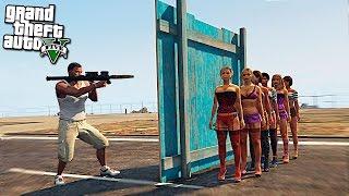 Возможно ли убить человека через стену в GTA 5 - Эпичные эксперемент