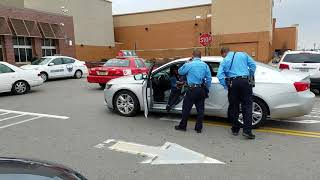 Lady arrested  today 3 17 18 at Walmart .