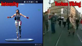 *Fortnite* Intensity Emote In Real Life! (Techno Viking Comparison)