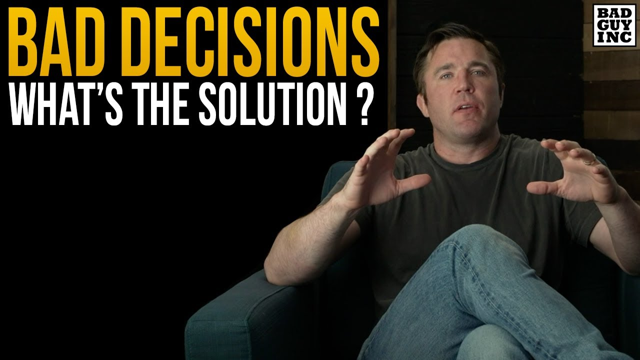What to do about bad decisions?
