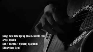 [Karaoke] Cơn Mưa Ngang Qua (Acoustic Cover) - Dual B [ Video Lyric ]