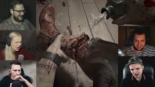 """Реакции Летсплейщиков"" на Отрубание Ноги из Resident Evil 7"
