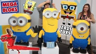 Minions & Sponge Bob Squarepants Mega Bloks Toys for 2015! (Mom & Dad @ NY Toy Fair)