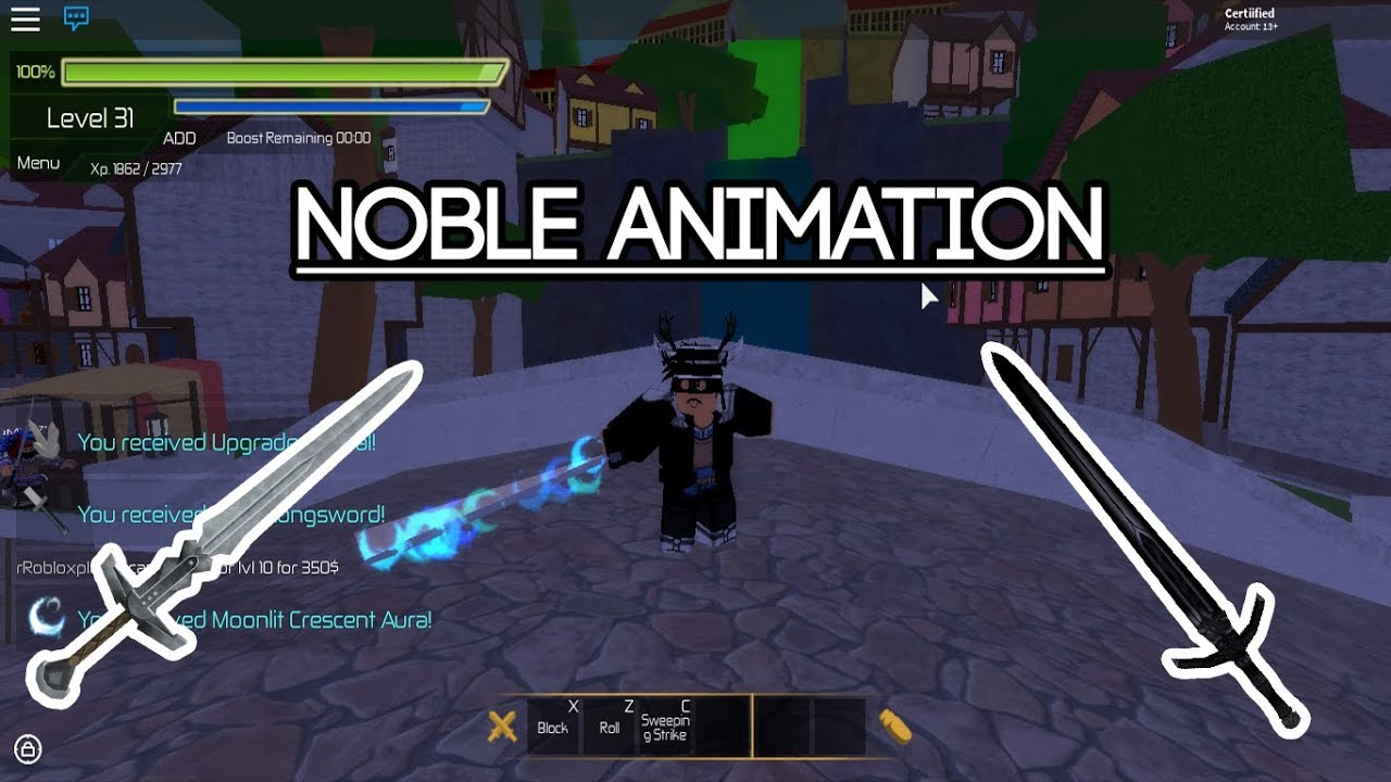 [Roblox Swordburst 2] Noble Animation Pack - YouTube