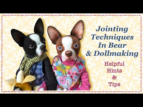 Teddybear Joints    Doll Jointing    Full Tutorial with Lisa Pay