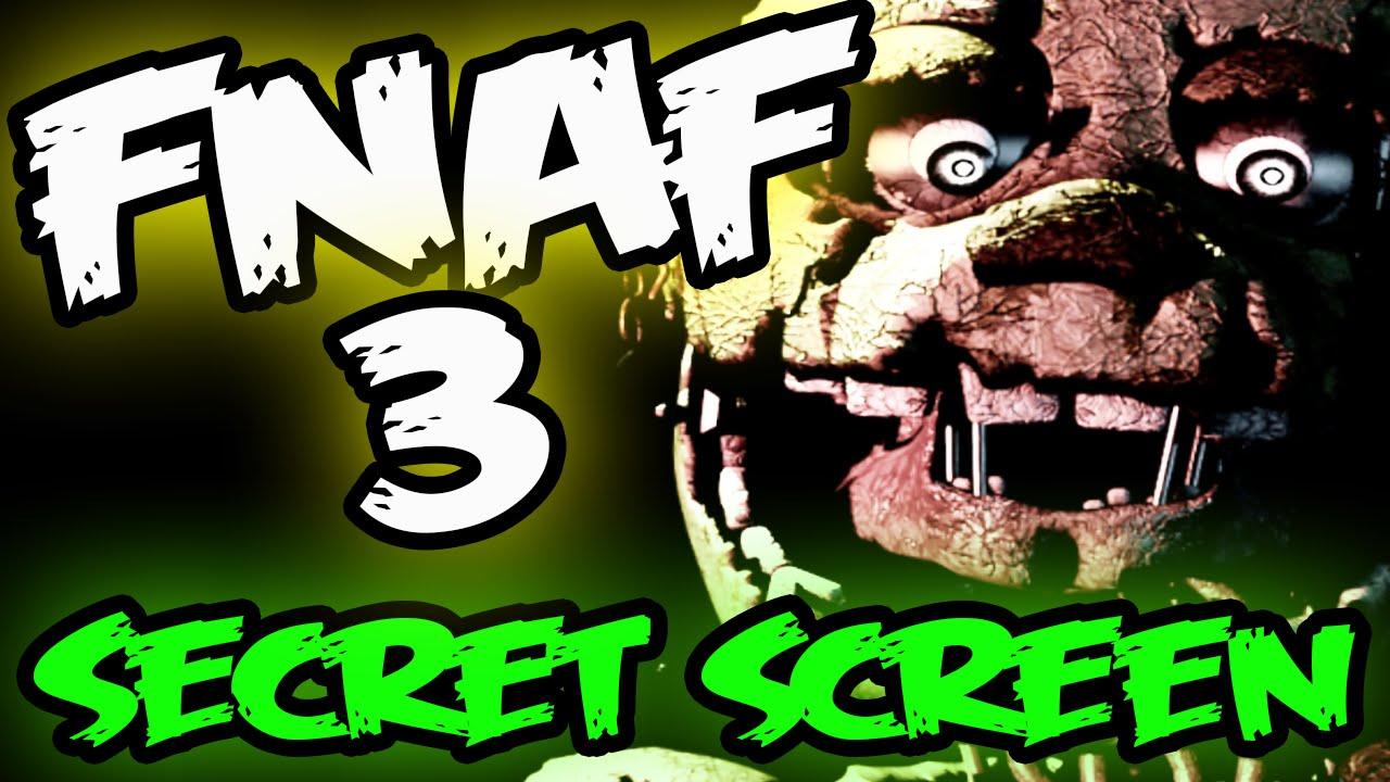 Fnaf 3 Secret Spring Trap Easter Egg Five Nights At