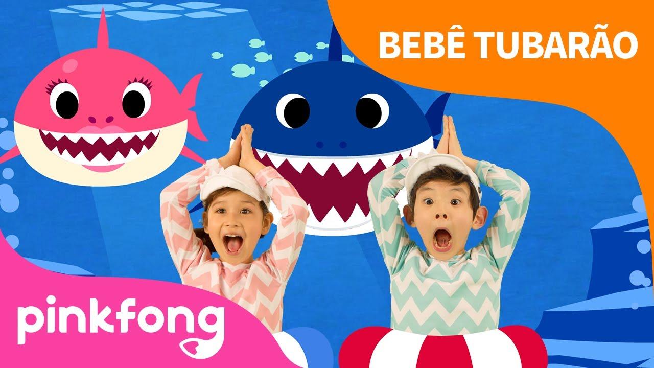 Dança do Bebê Tubarão | Baby Shark Dance em português | Pinkfong Canções para crianças