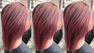 Розовый блонд с растяжкой метод выдува