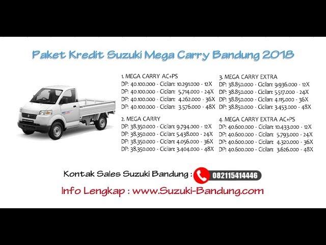 Kredit Suzuki Mega Carry Bandung DP & Cicilan Oktober 2018 | Info: 082121947360