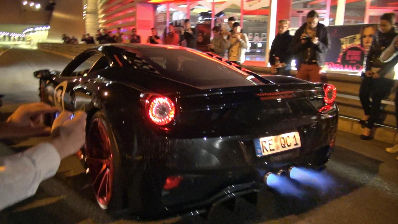 & Ferrari 458 Italia w/ Straight Pipes Exhaust Shooting FLAMES!! - YouTube