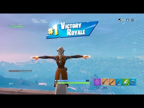 """FORTNITE First Win With """"EMBER"""" SKIN (""""SORCERER"""" OUTFIT Showcase) 