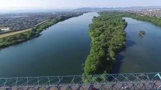 木曽川 空撮 尾濃大橋