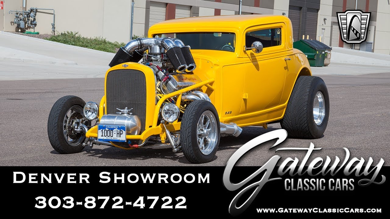 Classic Cars Denver >> 1932 Chevy 3 Window Coupe Gateway Classic Cars Denver 635