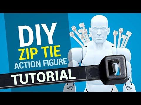 DIY ZIP TIE 3D printed action figure tutorial