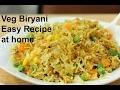 VEG BIRYANI Easy Recipe at home