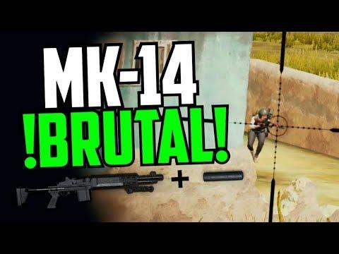 MK-14 + SILENCIADOR ¡BRUTAL!  |PUBG Español