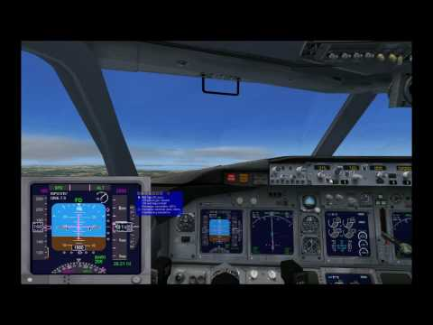 B737 ILS approach and land to Marseille (LFML) - FSX & fs passenger