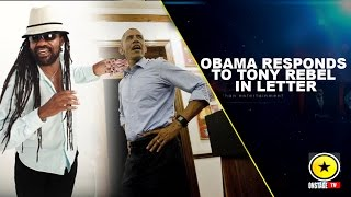 Obama Responds to Tony Rebel in Letter