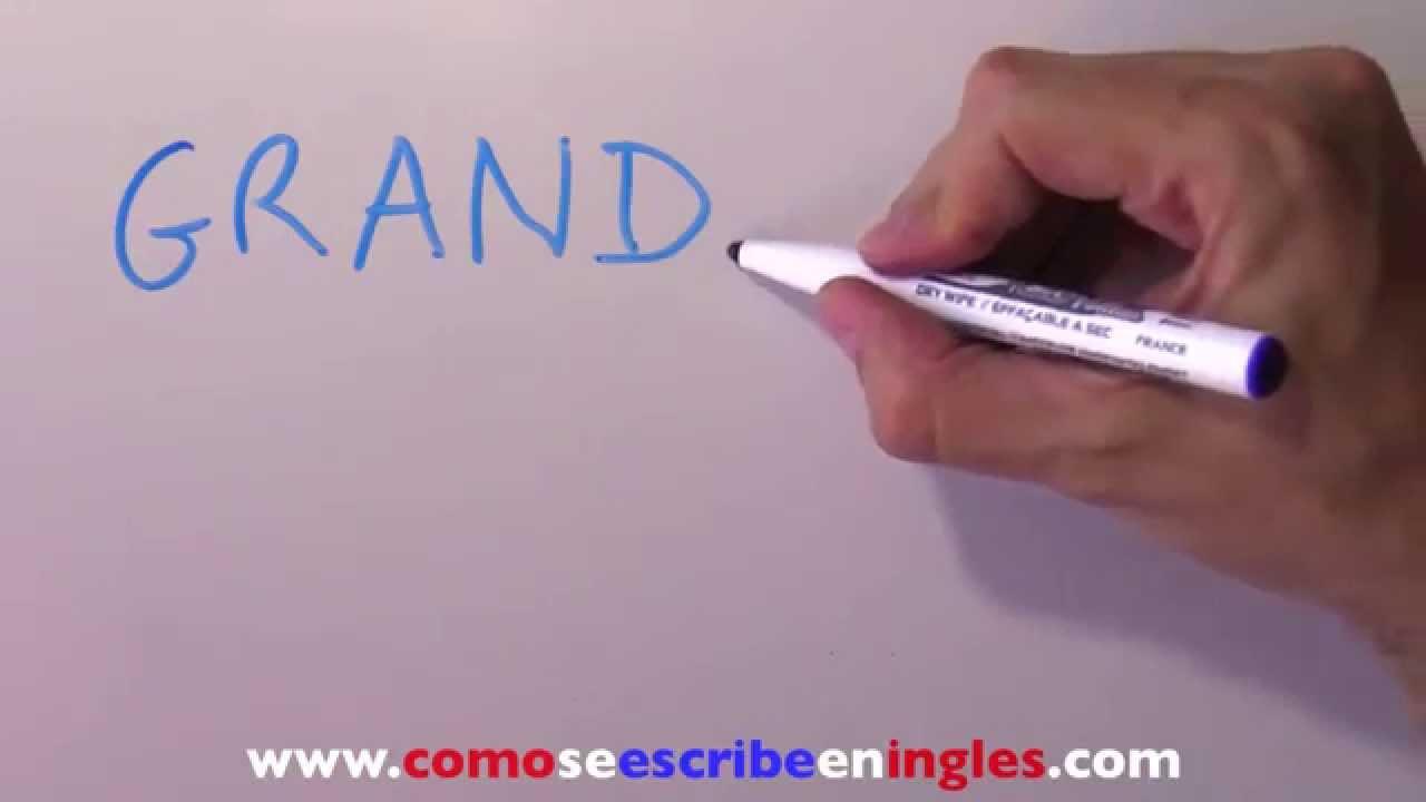 Aparador Dinn Jader Almeida ~ Cómo se escribe en inglés ABUELA YouTube