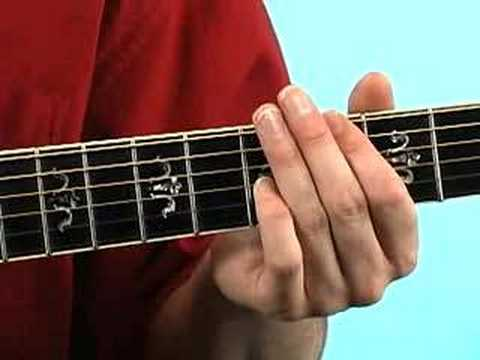 First guitar lesson: finger position