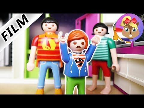 Playmobil Video Nederlands - KIND BREEKT 'S NACHTS IN HUIS IN! WEER DIE GROTE JULIAN! Kinderserie