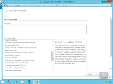 20345 2 demo9 creating a dlp policy from a template