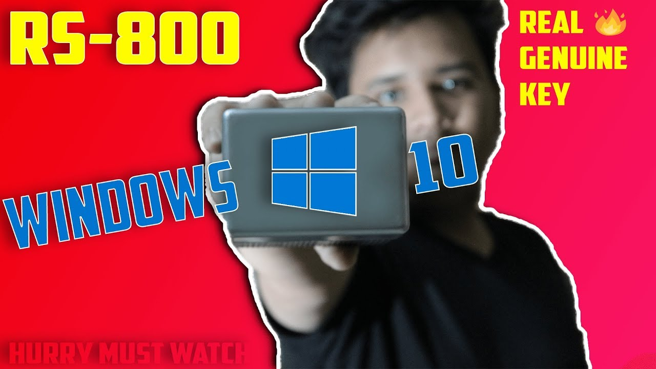 Windows 10 Pro For Rs 800 | Genuine Activation Keys |Full Detail  |Permanently Activate Windows 10 !!
