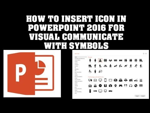 HOW TO INSERT ICON IN POWERPOINT 2016 TO VISUAL COMMUNICATE