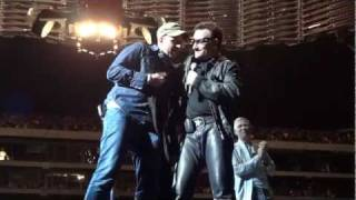 Wojtek Onstage With U2 (Live) - U2 Oakland - Oakland Coliseum - June 7, 2011
