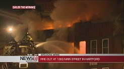 Large apartment fire closes Main St. in Hartford