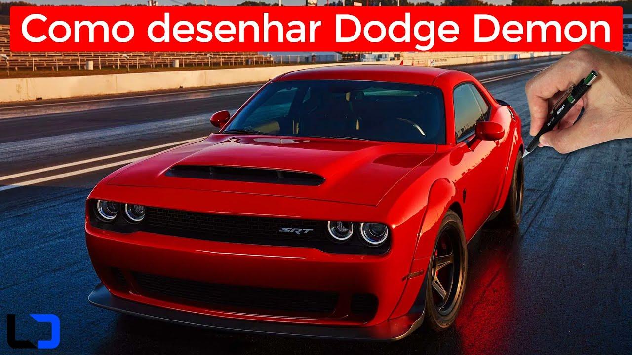 Como Desenhar Carros Dodge Challenger Srt Demon Passo A Passo Youtube