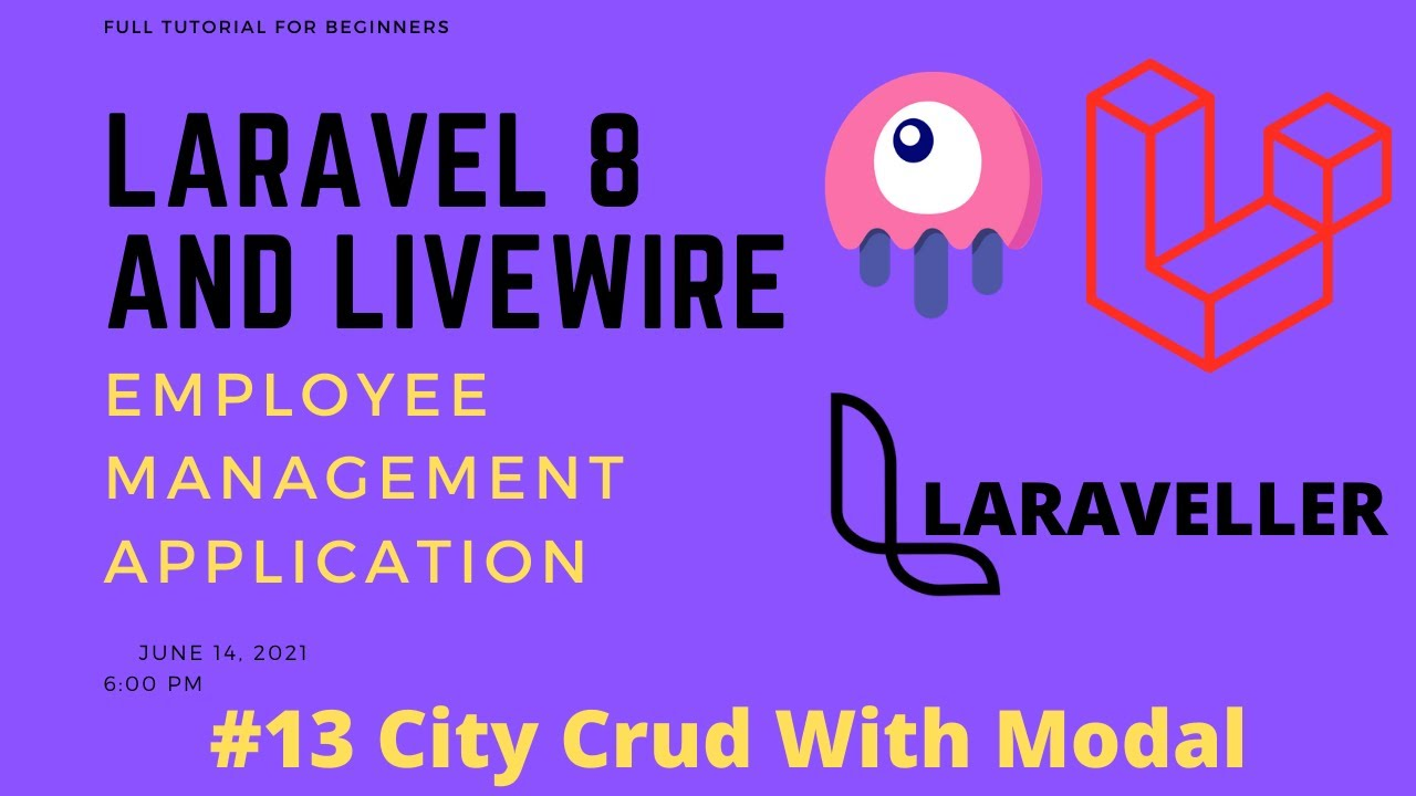 13 Laravel Livewire Tutorial - Employees Management Project - City Full Crud