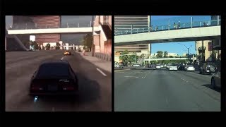 Need for Speed: THE RUN - Las Vegas Stage Real Life Comparison