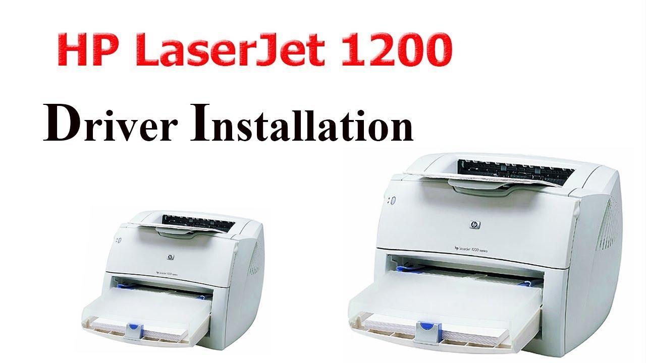 How to install hp laserjet 1200 windows 7 8 8 1 10 youtube.
