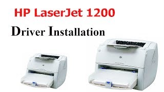 How To Install Hp Laserjet 1200 Printer Driver On Windows 7 Youtube