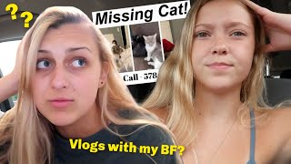 Boyfriend in the Vlogs & Missing Cat Update