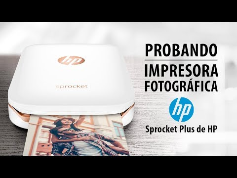 Probando la impresora fotográfica Sprocket Plus de HP