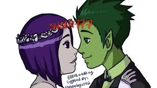 Robin X Starfire Beast boy X Reaven Cyborg X Jinx ♥️