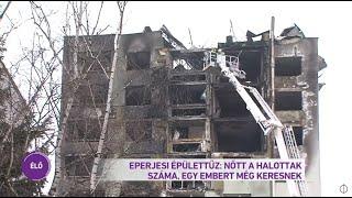 Eperjes épülettűz: nőtt a halottak száma, egy embert még keresnek