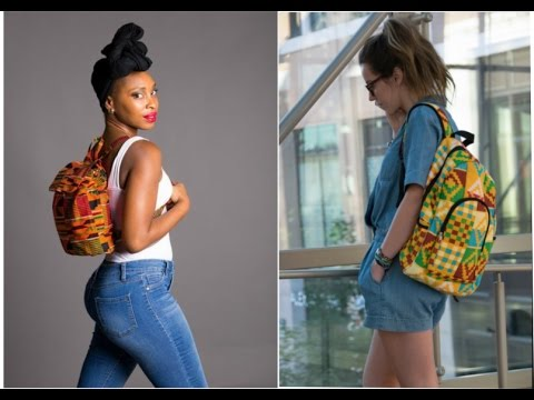 See why African students love back pack made from kente fabric