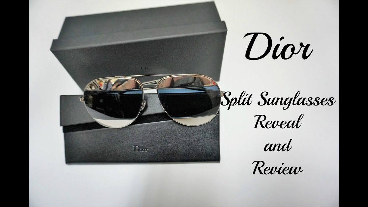 63ca1337155d Dior -Split Sunglasses Reveal and Review - YouTube