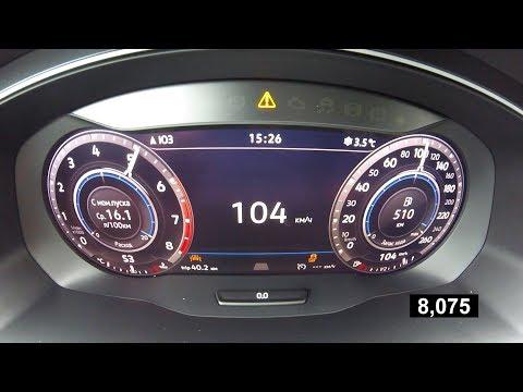 Сколько Volkswagen Tiguan проиграет сам себе? Разгон с ланчем и без него от 0 до 100