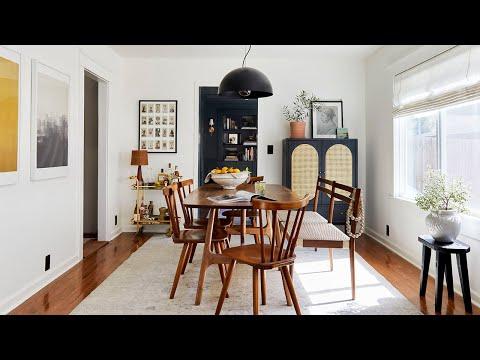 HOUSE TOUR: Sara's Long, Narrow Living And Dining Room