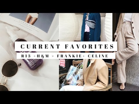 CURRENT FAVORITES / R13 + H&M + FRANKIE + CELINE + BALENCIAGA | G.EMLOOK