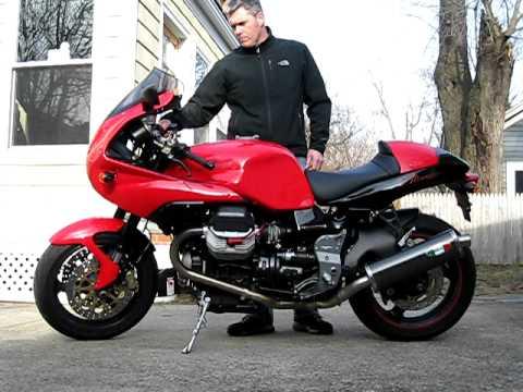 2003 moto guzzi v11 le mans starting.mov - youtube