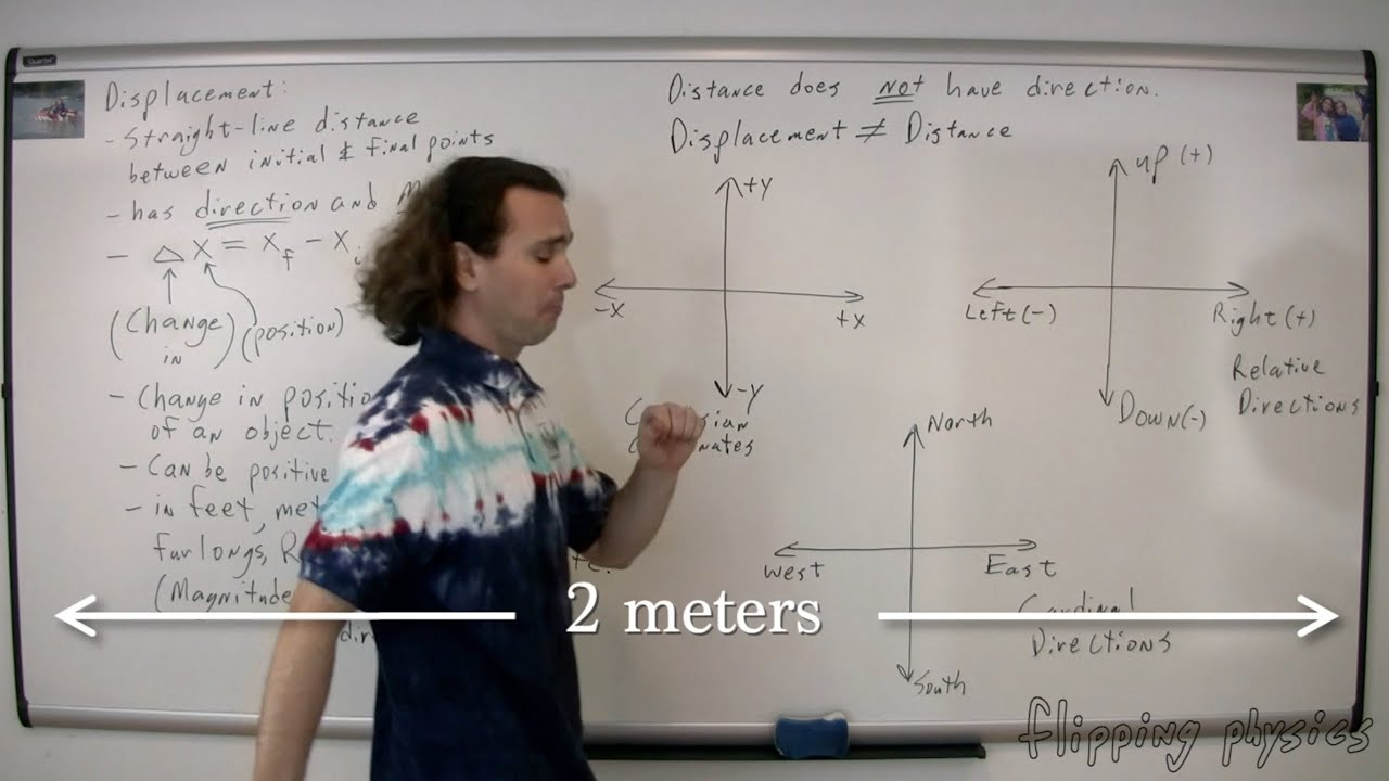 Download Introduction to Displacement and the Difference between Displacement and Distance