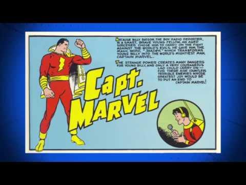 Shazam Captain Marvel Public Domain Comic Book Readalong storybook for Kids