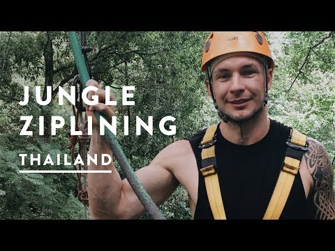 FLIGHT OF THE GIBBON - BEST ZIP LINING IN CHIANG MAI | Thailand Vlog 2017