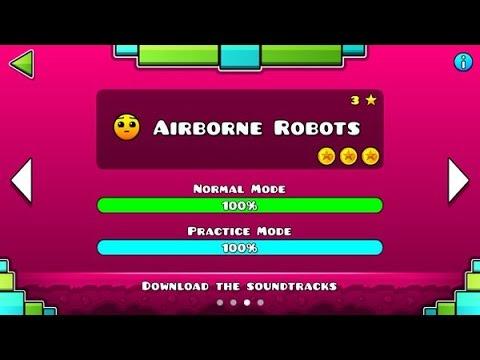 "Geometry Dash Meltdown: ""Airborne Robots"" 100% Complete [All Coins] - GuitarHeroStyles"