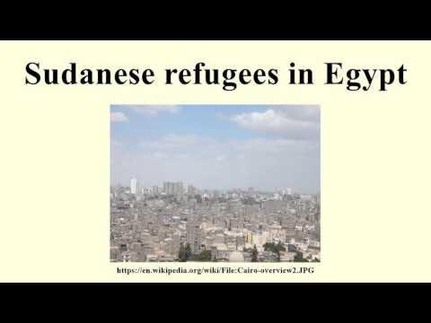 Sudanese refugees in Egypt